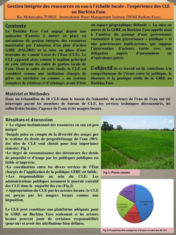Gestion Intégrée des ressources en eau à l'échelle locale: l'expérience des CLE au Burkina Faso