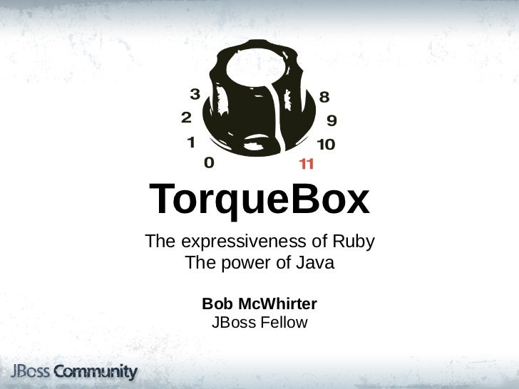 TorqueBox at DC:JBUG - November 2011