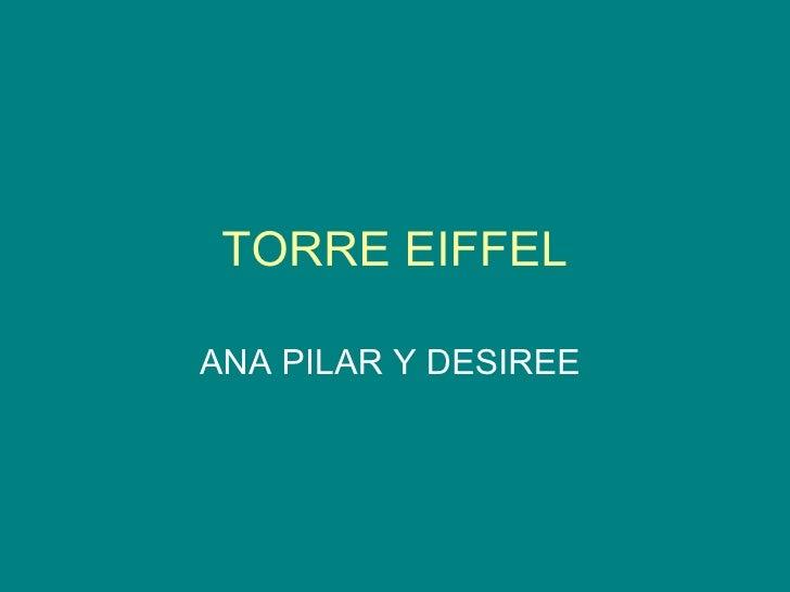TORRE EIFFEL ANA PILAR Y DESIREE
