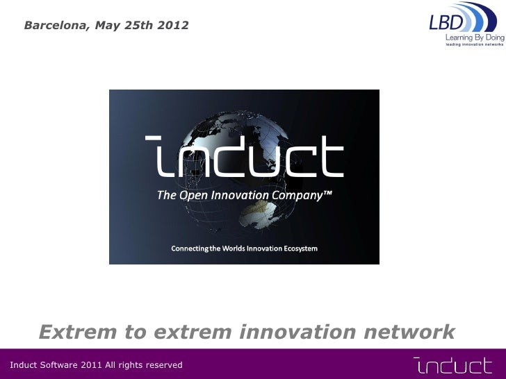 Barcelona, May 25th 2012      Extrem to extrem innovation networkInduct Software 2011 All rights reserved