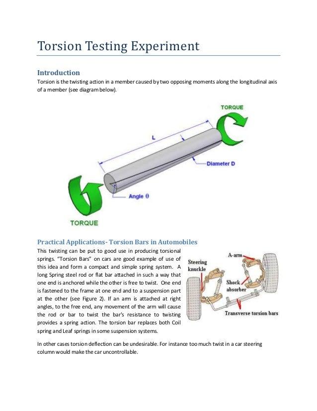 Torsion testing experiment (instructor)