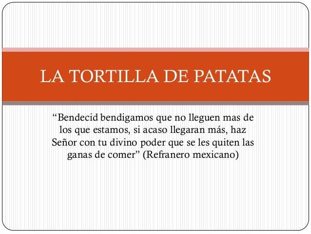 Ejercicio de PowerPoint: La tortilla de patatas