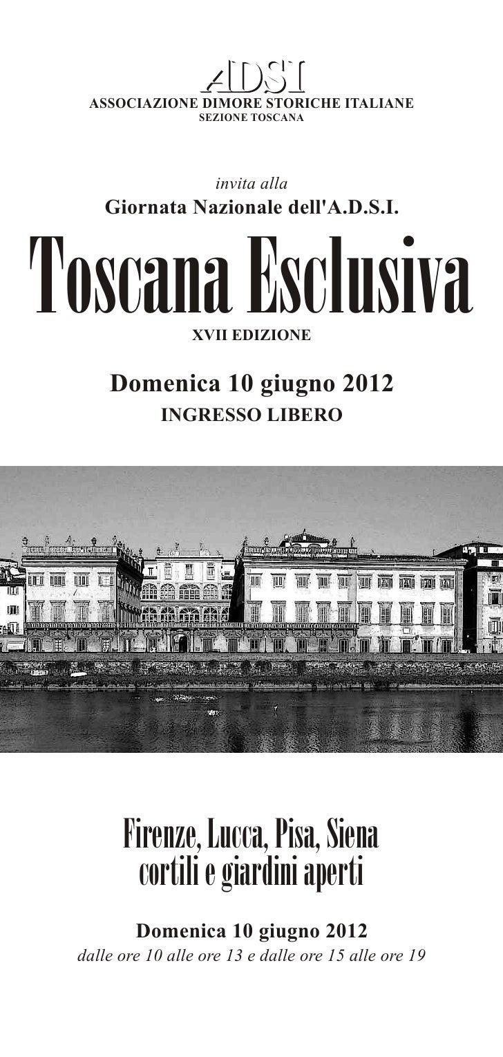 Toscana esclusiva - depliant 2012