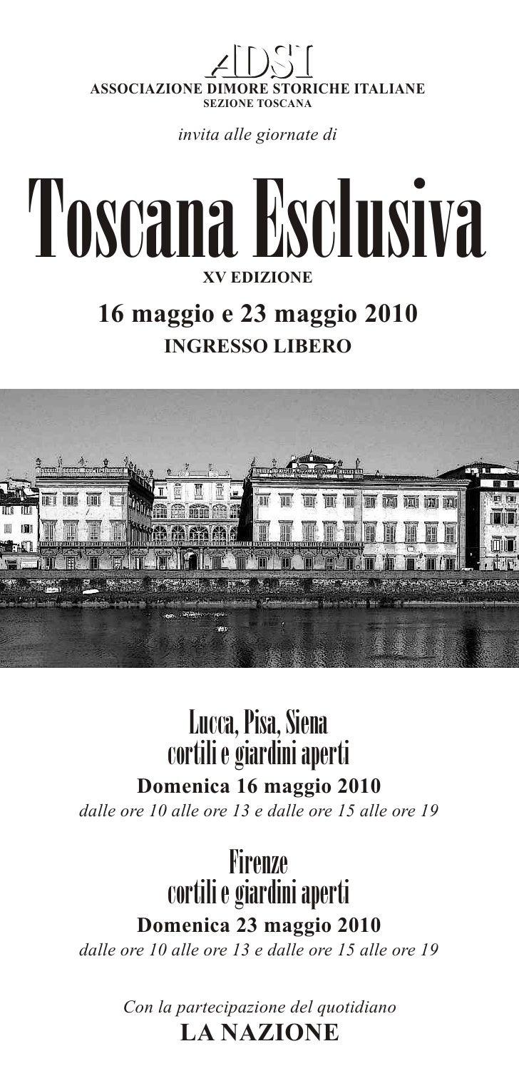 Toscana esclusiva 2010_comunicato