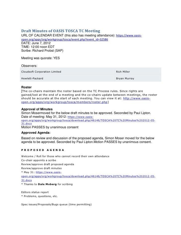 Tosca tc minutes 2012 06-07