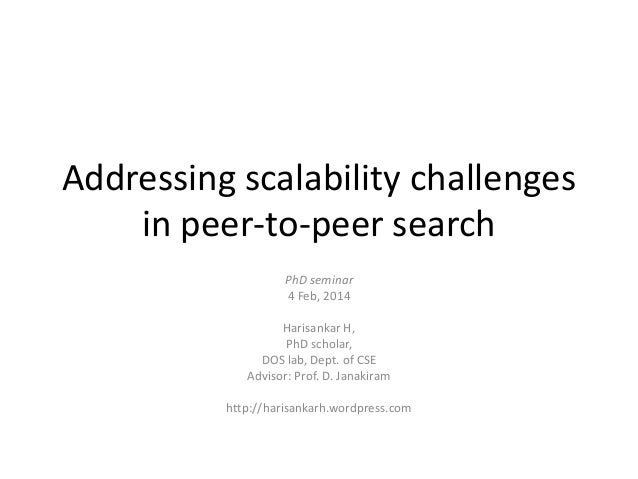 Addressing scalability challenges in peer-to-peer search
