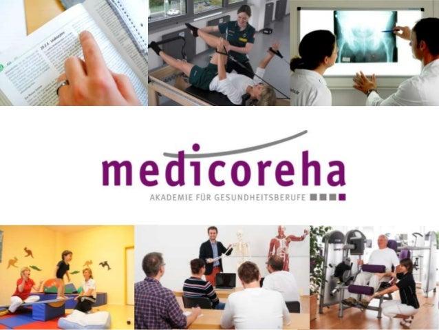 Inhalt > medicoreha-Unternehmensgruppe > Ausbildung Ergotherapie > Ausbildung Physiotherapie > Studium Angewandte Therapie...