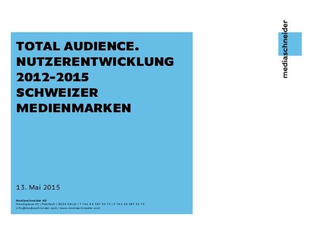 Mediaschneider AG Mediaschneider AG Höschgasse 45 | Postfach | 8034 Zürich | T +41 44 387 52 72 | F +41 44 387 52 73 info@...