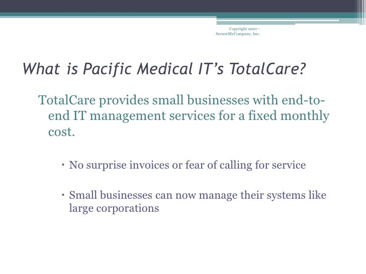 Total Care Plan