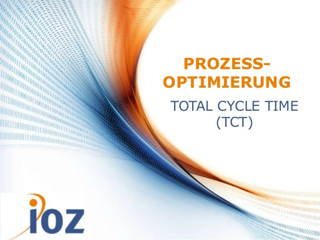 24.07.2013 © IOZ AG 1 PROZESS- OPTIMIERUNG TOTAL CYCLE TIME (TCT)