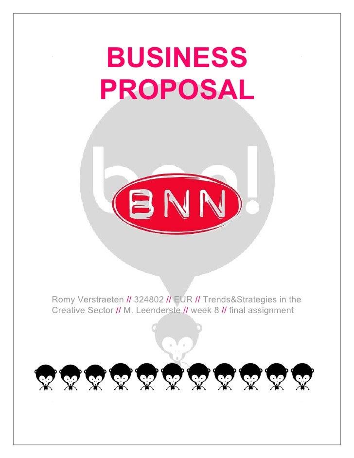 BNN Bussiness Proposal - Romy Verstraeten