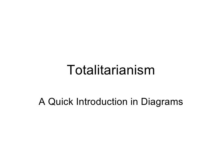 Totalitarianism A Quick Introduction in Diagrams