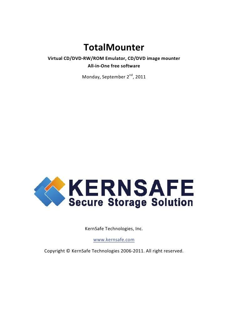 Tota                         alMounter     Virtua          alCD/DVD                  D‐RW/ROM MEmulat tor,CD/DV      ...