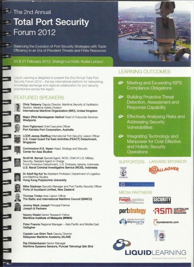 Total Port Security Forum 2012 - Scott Bernat