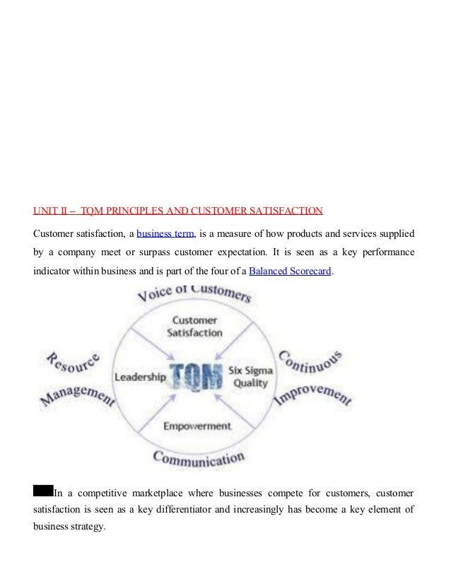 Elements of tqm essay