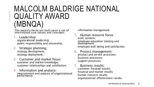 revisiting two malcolm baldrige national quality The impact on small and medium sized enterprise - international  malcolm baldrige national quality  and one or two managers must begin with quality.