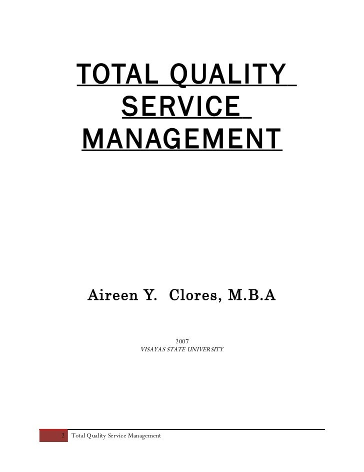 Dissertation management quality total