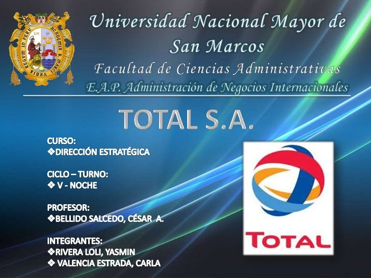 Universidad Nacional Mayor de San Marcos<br />Facultad de Ciencias Administrativas<br />E.A.P. Administración de Negocios ...