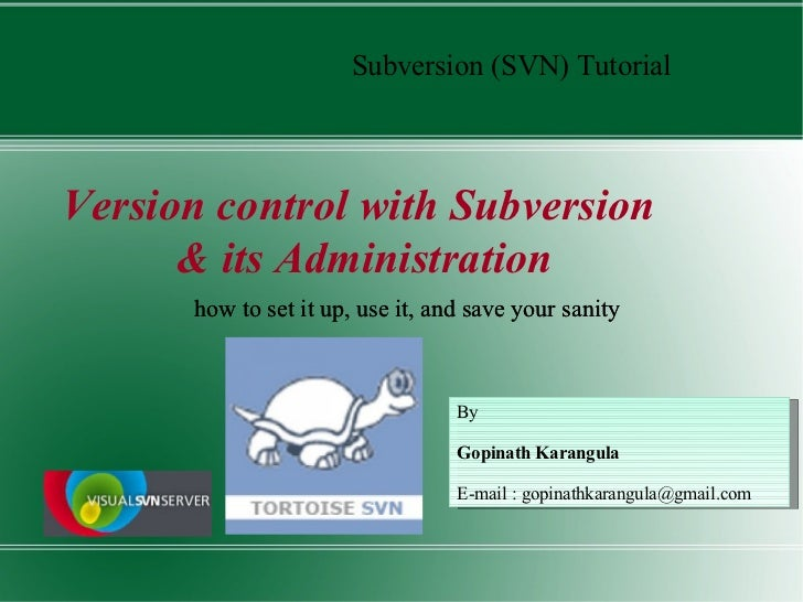 Totalsvn Usage And Administration By Gopi
