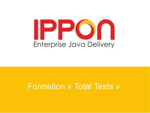 Formation « Total Tests »