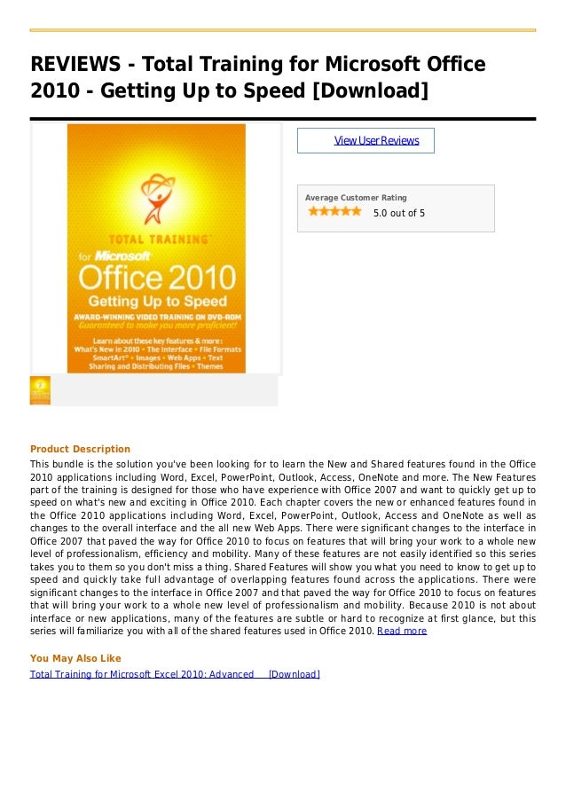 Total training for microsoft office 2010   getting up to speed [download]