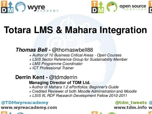 TotaraLMS & Mahara ePortfolios Integration for UK Apprenticeships Delivery