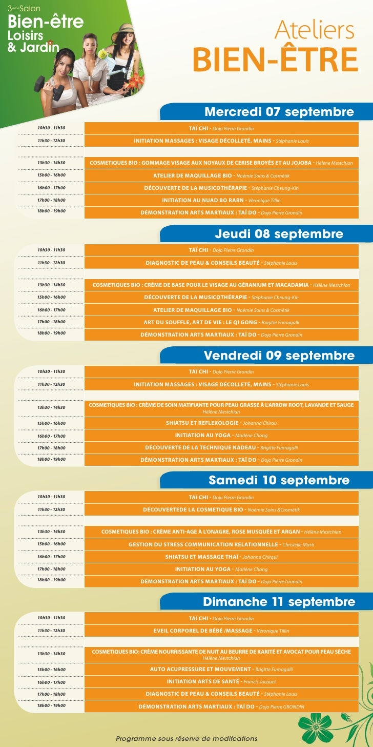 3 Salon èmeBien-êtreLoisirs& Jardin                                                                                       ...