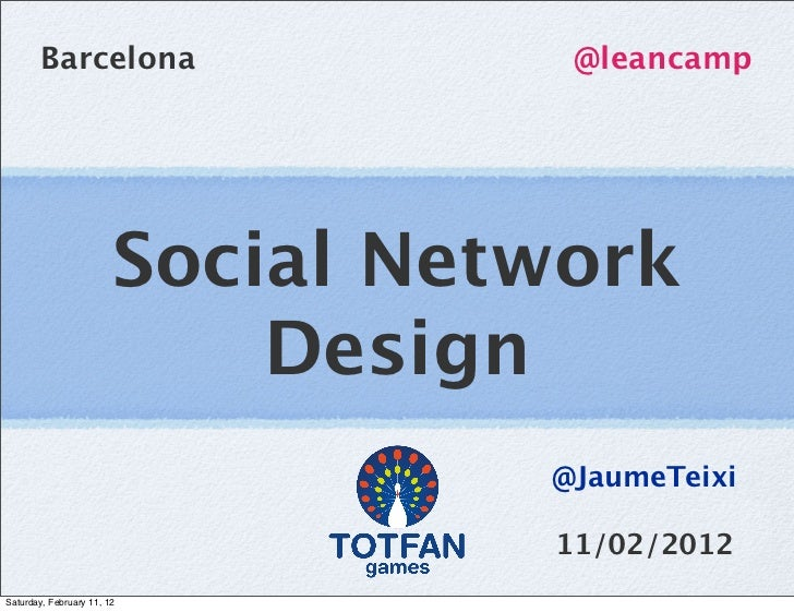 Barcelona                  @leancamp                        Social Network                            Design              ...