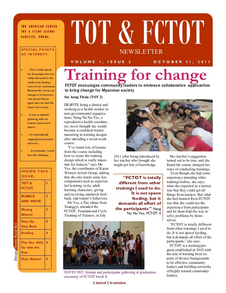 TOT&FCTOT Newsletter (vol 1, issue 2)