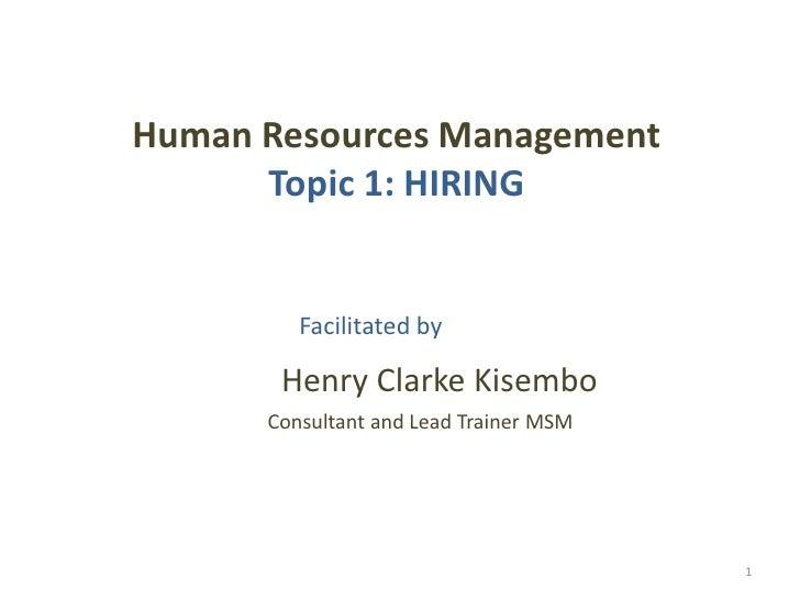 To t msm riam presentation on hiring