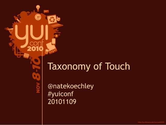 Taxonomy of Touch