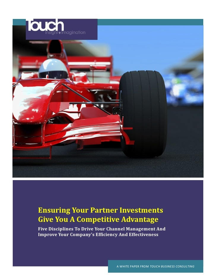 Ensuring Your Partner Investments Give You A Competitive Advantage Five Disciplines To Drive Your Channel Management And I...