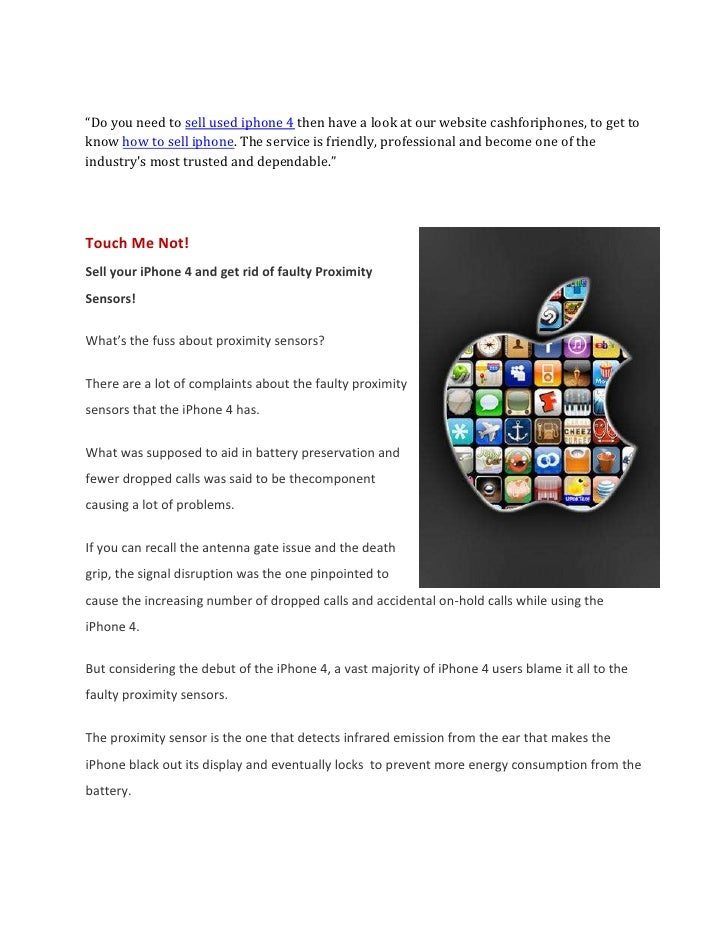 """""""Do you need to sell used iphone 4 then have a look at our website cashforiphones, to get toknow how to sell iphone. The s..."""