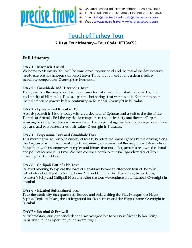 Touch of Turkey Tour Package for 7 Days