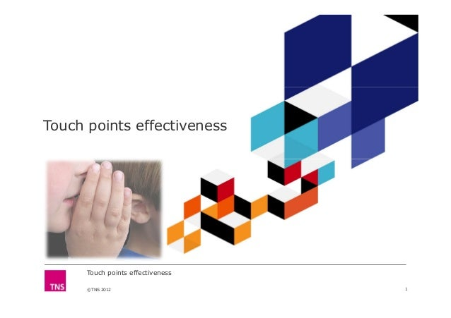 Touch points effectiveness ©TNS 2012 Touch points effectiveness 1