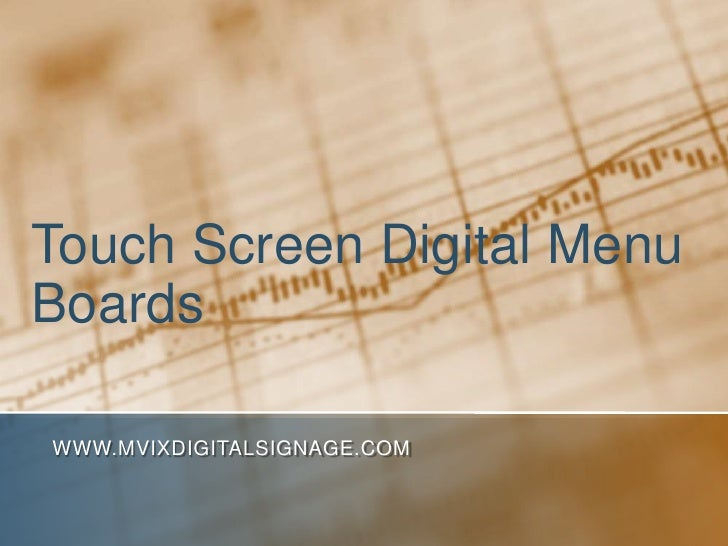 Touch Screen Digital Menu Boards