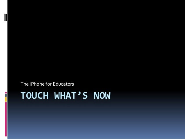 Touch what's now mc3 final