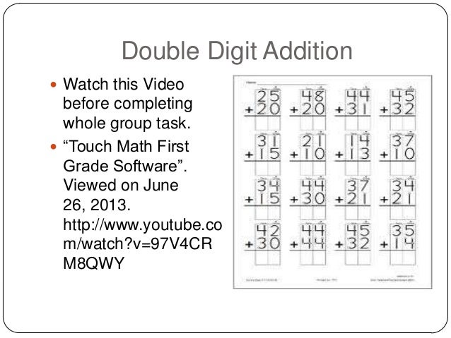math worksheet : touchy touch math : Touch Math Worksheet