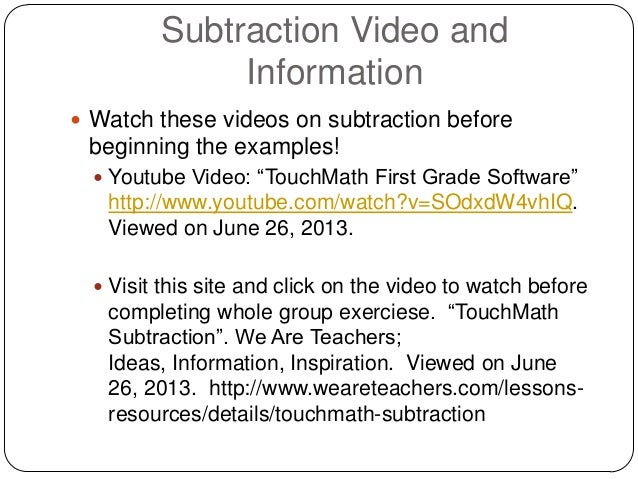 Touch Math Worksheets Subtraction touch math for the love of – Touch Math Subtraction Worksheets
