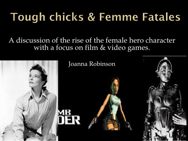 A discussion of the rise of the female hero character with a focus on film & video games. Joanna Robinson