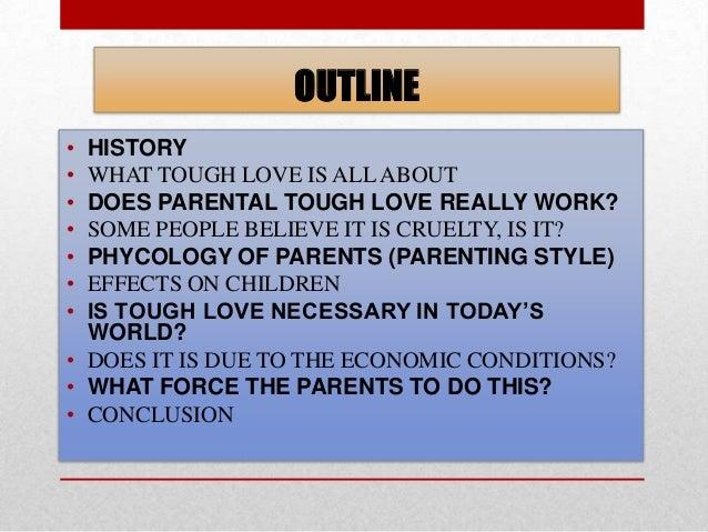 Parental tough love essay