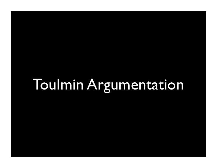 Toulmin Argumentation