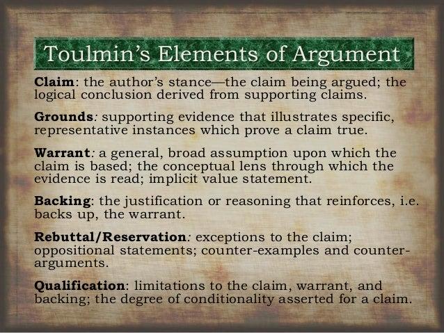 Toulmin Model Examples Essay
