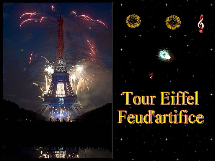 Tour Eiffel Feud'artifice