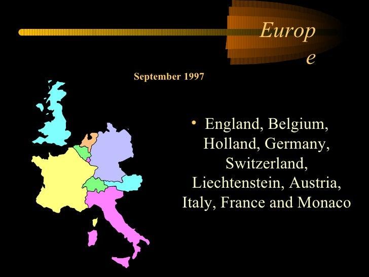 Tour 1997 Europe