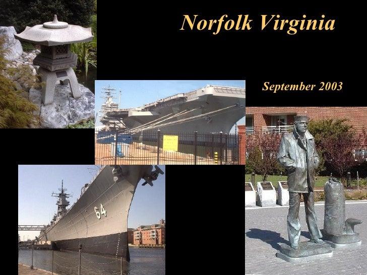Norfolk Virginia September 2003