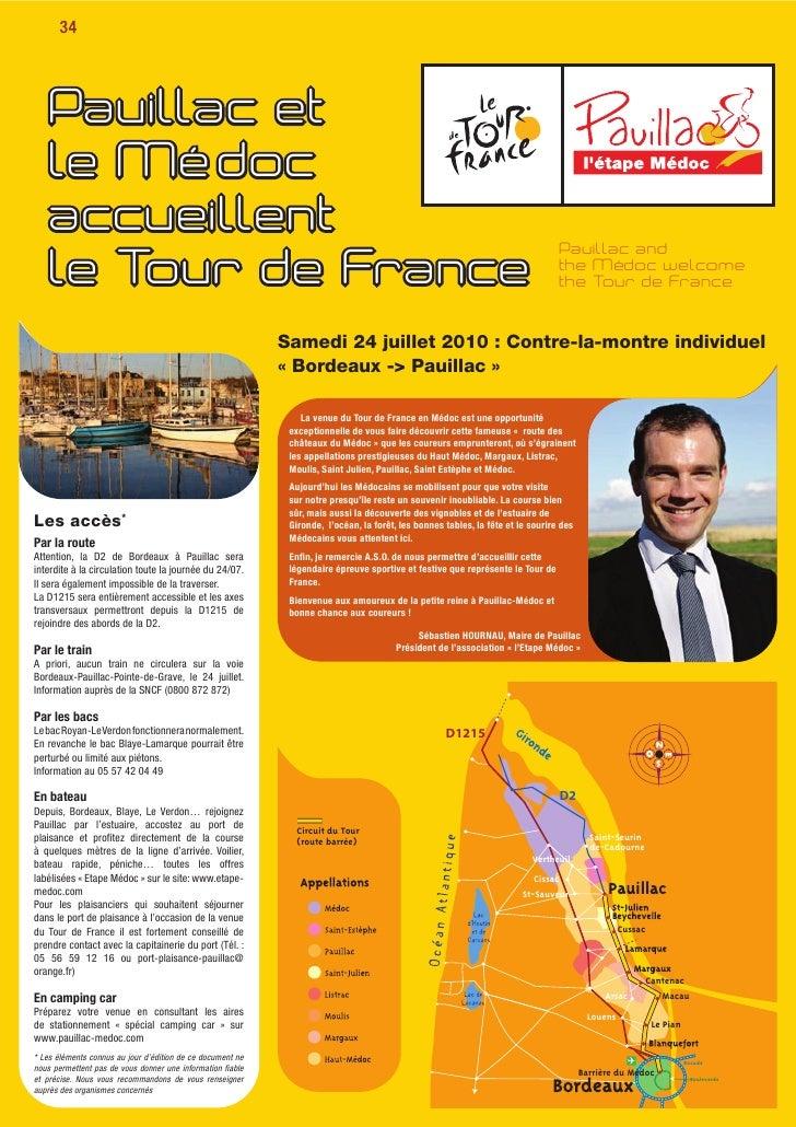 Tour de france 2010 etape medoc contre-la-montre bordeaux-pauillac - le guide officiel