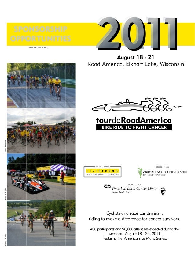 Cyclists and race car drivers... riding to make a difference for cancer survivors. 400 participants and 50,000 attendees e...