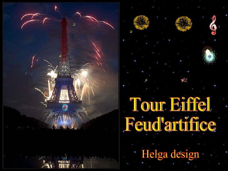 Tour Eiffel Feud'artifice Helga design