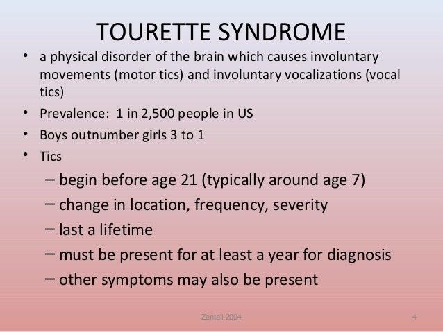 Tourette syndrome adults symptoms